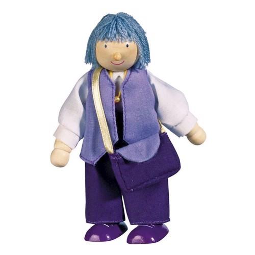 Image of   dukke til dukkehus, bedstemor