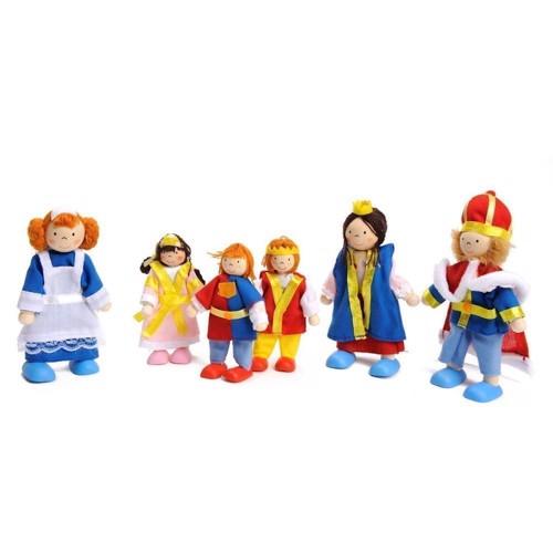 Image of   Dukker til dukkehus, kongelig familie