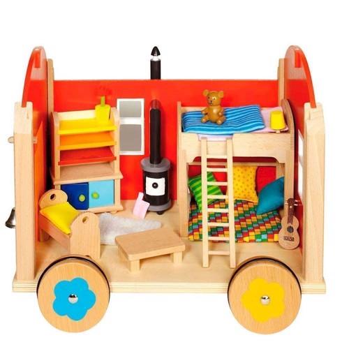 Image of   Dukkehus trailer vogn
