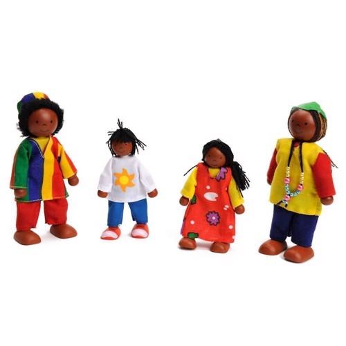 Image of   Afrikans familie til dukkehus
