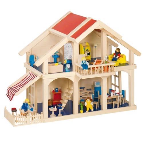 Dukkehus med veranda