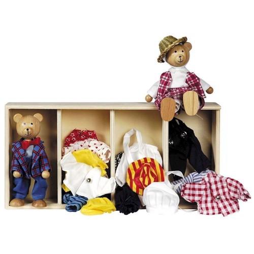 Image of   Dukkehus bjørn med tøj