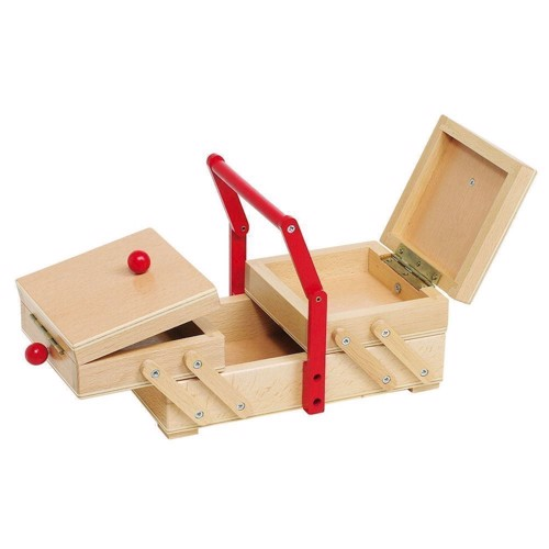 Image of Wooden Sewing Box (4013594519182)