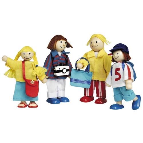 Image of   Dukker til dukkehus, familie på ferie