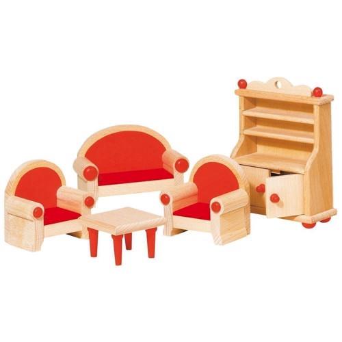 Image of   Møbler til dukkehus, stue