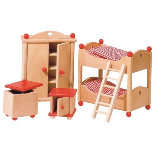 Image of   Møbler til dukkehus, børneværelse