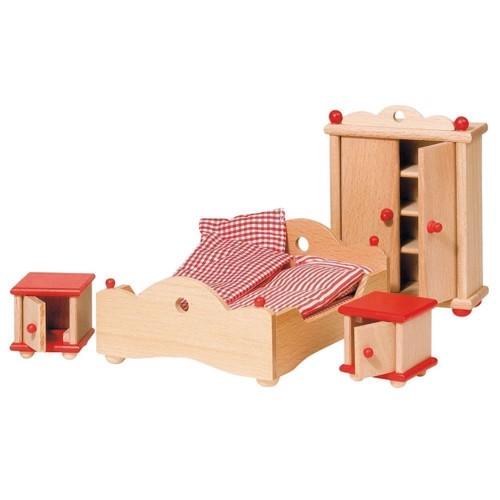 Image of   Møbler til dukkehus, soveværelse
