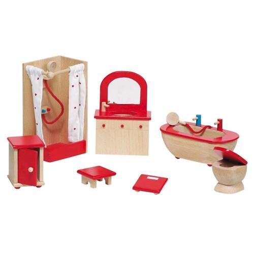 Image of   Møbler til dukkehus, badeværelse