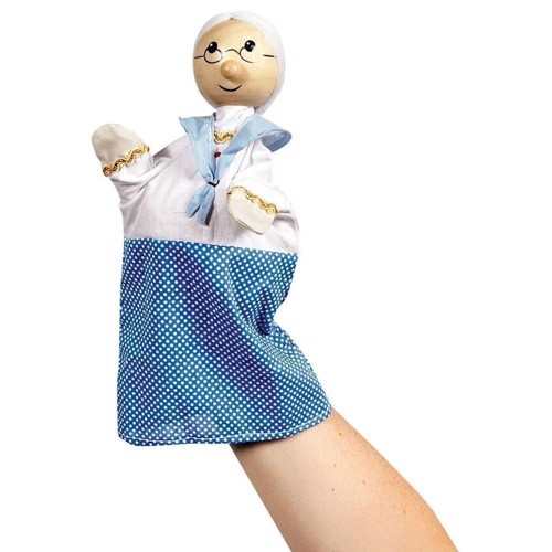 Image of   Dukketeater, Hånddukke, bedstemor