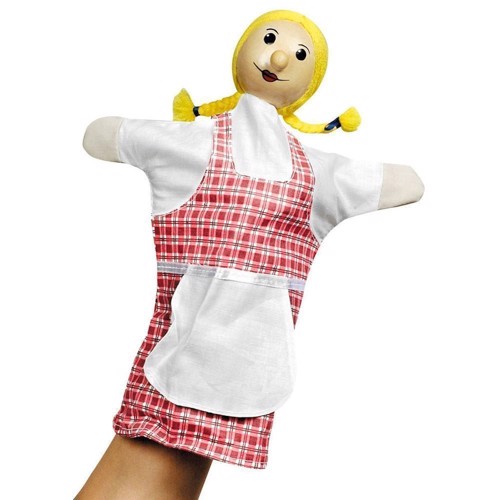 Image of   Dukketeater, Hånddukke, pige