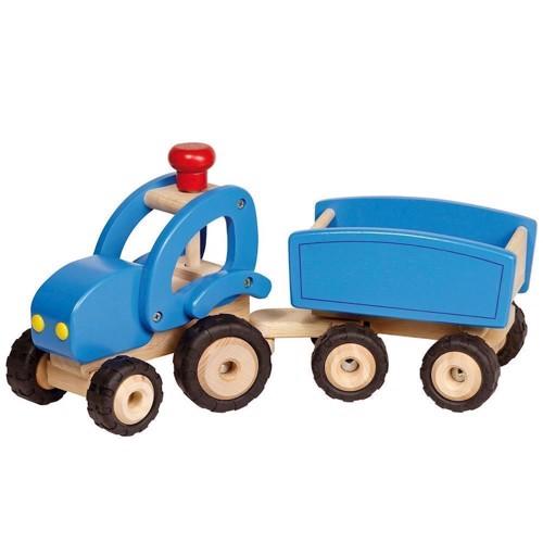 Image of Traktor med trailer i træ (4013594559256)