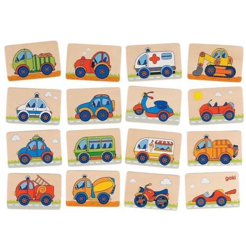 Image of Vendespil, 32 dele med køretøjer (4013594566896)
