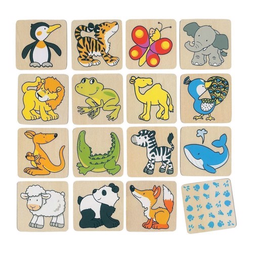 Image of   Wooden Memo animals, 32dlg.