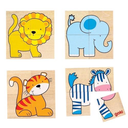 Image of   Puslespil med dyr, 20 dele
