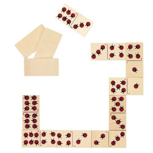 Image of   Domino med mariehøns