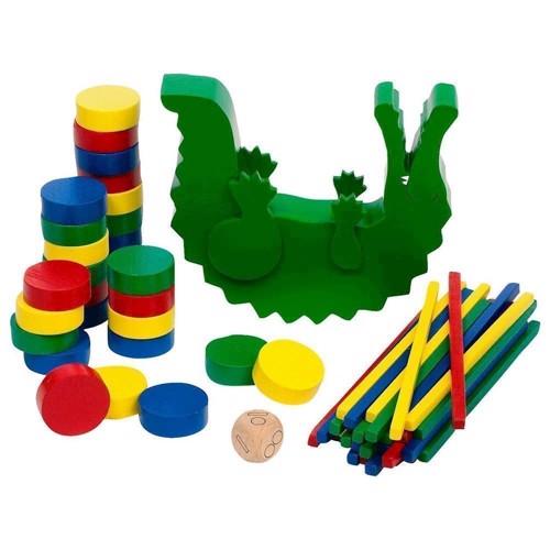 Image of Balancespil i træ, krokodille (4013594569668)