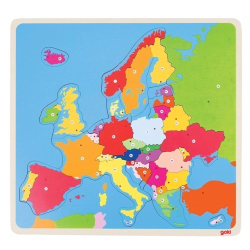 Image of   Wooden Puzzle Europe