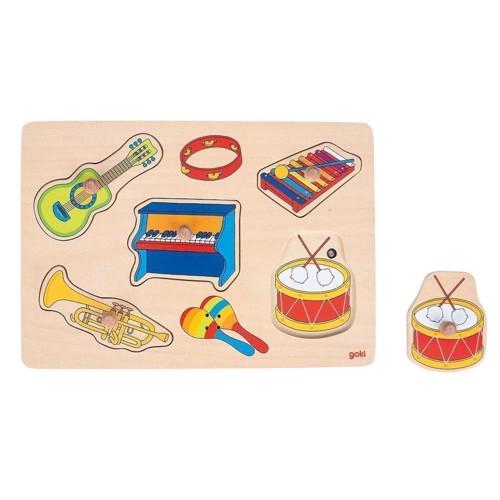 Image of   Knoppuslespil med instrumenter, 5 brikker