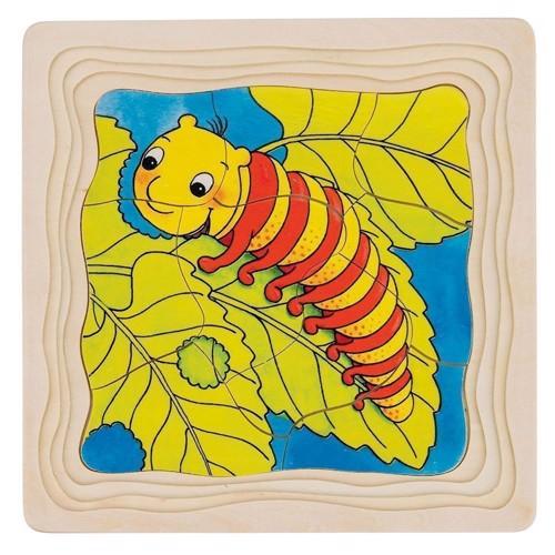 Image of   Puslespil med lag, sommerfugl