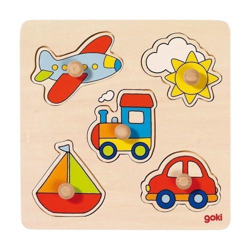Image of   Knoppuslespil med køretøjer