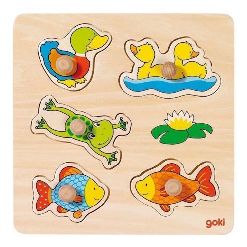 Image of   Knoppuslespil med vanddyr