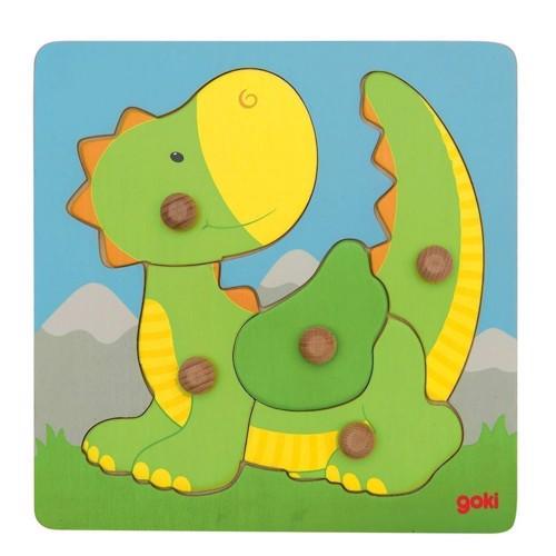Image of   Wooden Bubble Puzzle Dragon, 5 PCs.