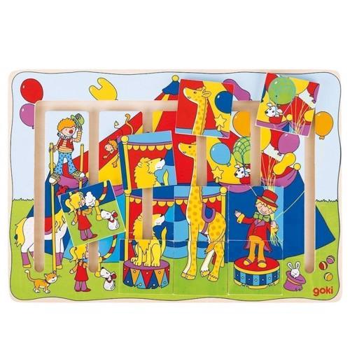 Image of   Labyrint puslespil med cirkus