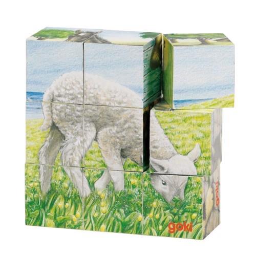 Image of Wooden Block Puzzle Farm (4013594576079)