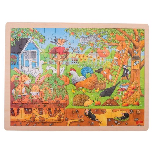 Image of Wooden Puzzle - Life in the Garden (4013594577434)