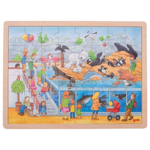 Image of   Wooden Puzzle - Zoo, 48pcs.