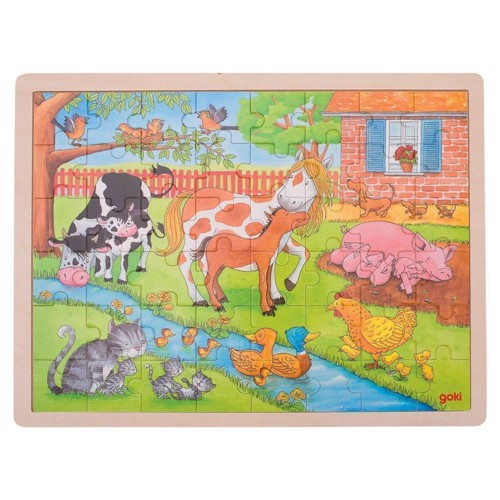 Image of   Wooden Puzzle - On the Farm, 48pcs.