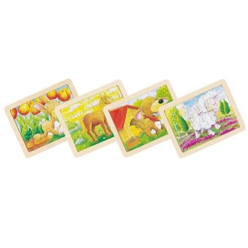 Image of   Rammepuslespil med dyr