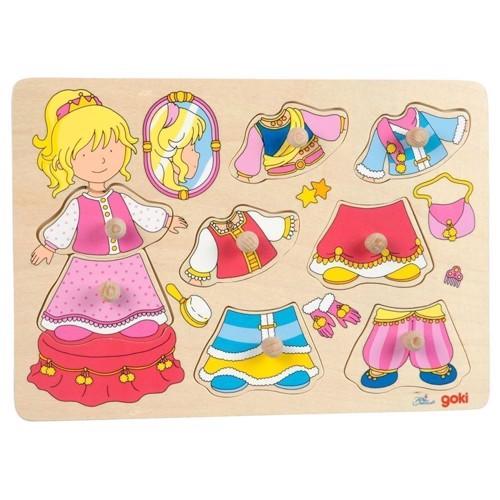 Image of   Påklædningspuslespil med prinsesse
