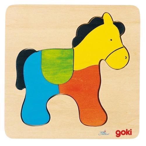 Image of   Puslespil med hest