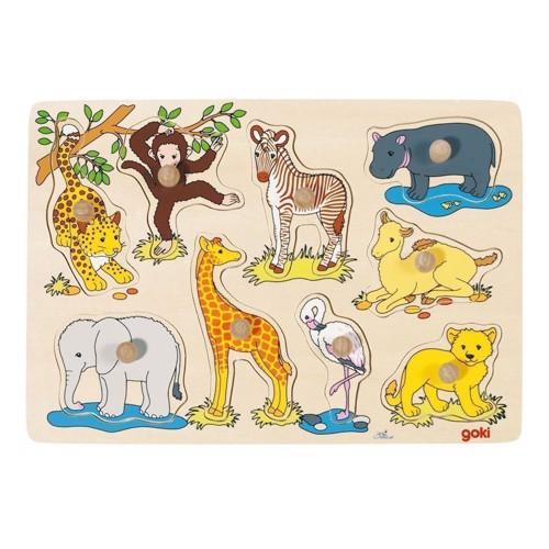 Image of   Puslespil i træ med vilde dyr
