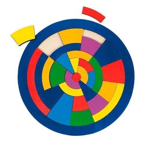 Image of   Cirkel puslespil med farver