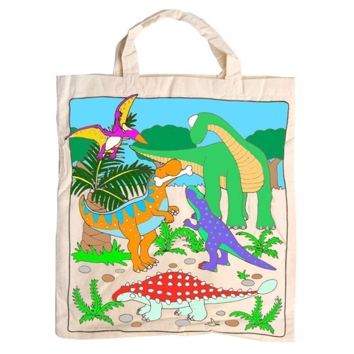 Image of Cotton Carrier Bag-Dinosaur XL (4013594588096)