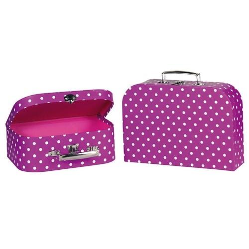 Image of   Lilla kuffert med prikker, 2 stk