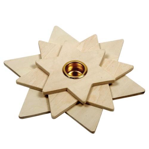 Image of   Farvelæg din egen lysestage, stjerne