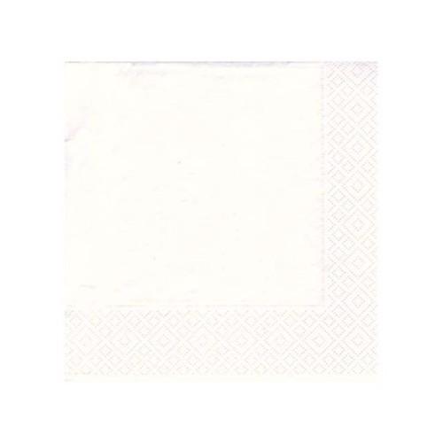 Image of   20 servietter 33x33 hvid