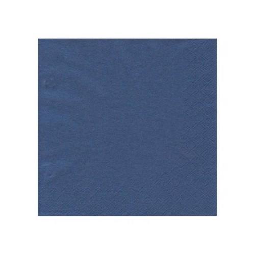 Image of   20 servietter 33x33 mørkeblå
