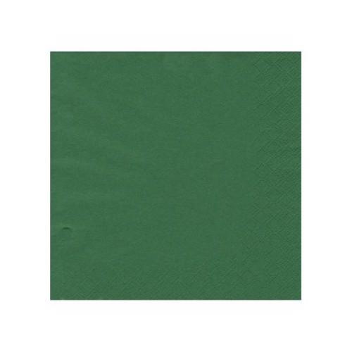 Image of   20 servietter 33x33 mørkegrøn