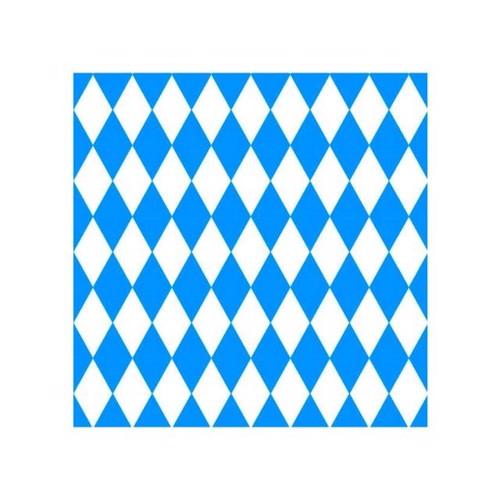 Image of   20 servietter 33x33 hvid og blå