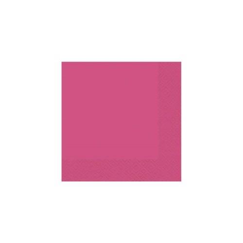 Image of   20 napkins 33x33 pink