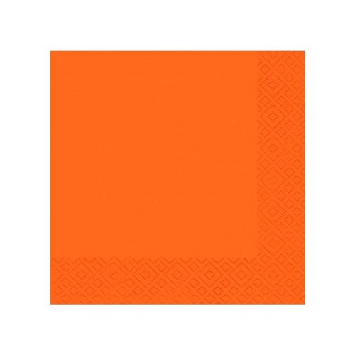 Image of   20 servietter 33x33 orange