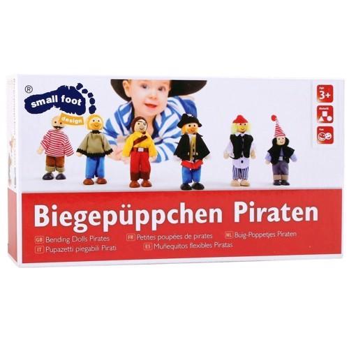 Image of   Bøjelige dukker, pirat sæt med 6 stk