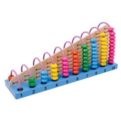 Image of   Abacus kugle/tølle legetøj i træ