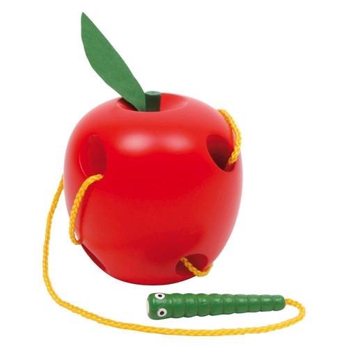 Image of   Baby legetøj, æble med snor