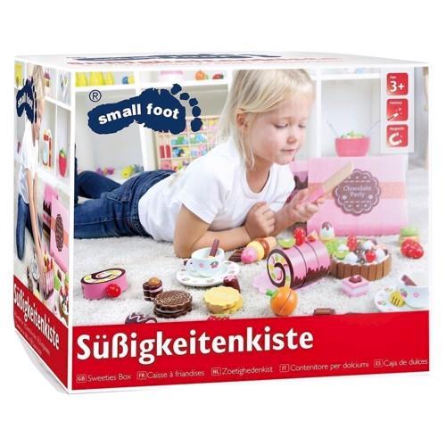 Image of   Legemad, kasse med søde sager