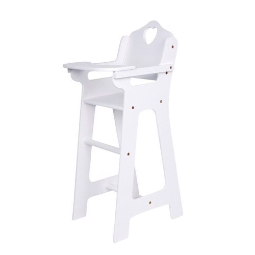 Image of   Dukke højstol i hvid